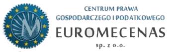 """Centrum Prawa Gospodarczego i Podatkowego """"EUROMECENAS"""" sp. z o.o."""